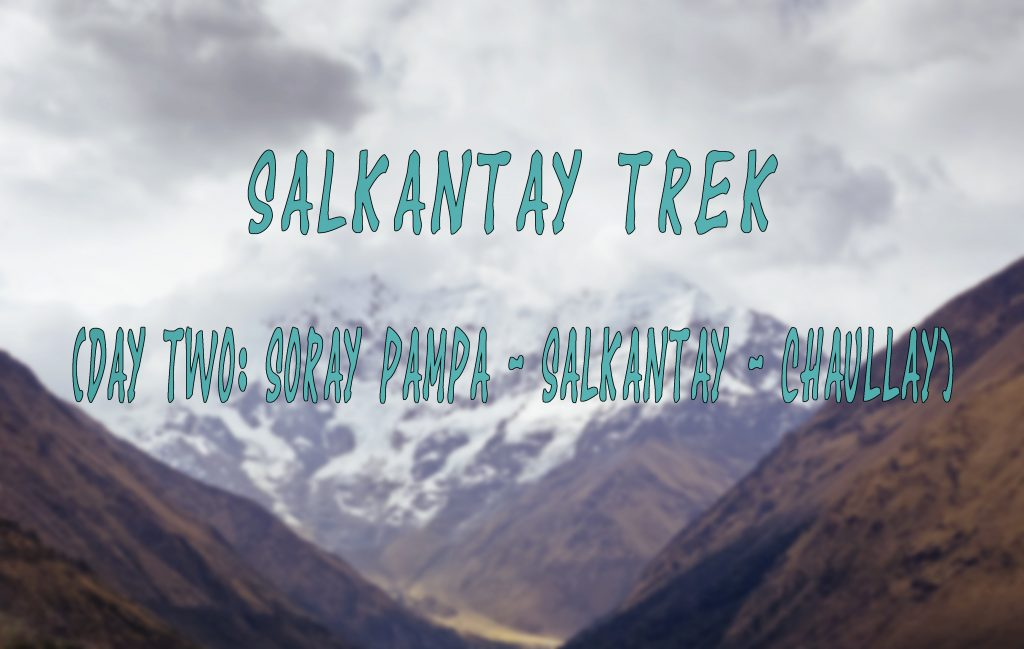 Salkantay Trek diary – Part 4: Anyay Salkantay or the second day of the trek