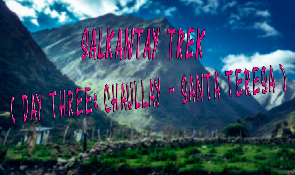 Salkantay Trek diary – Part 5: Santa Teresa and hot springs